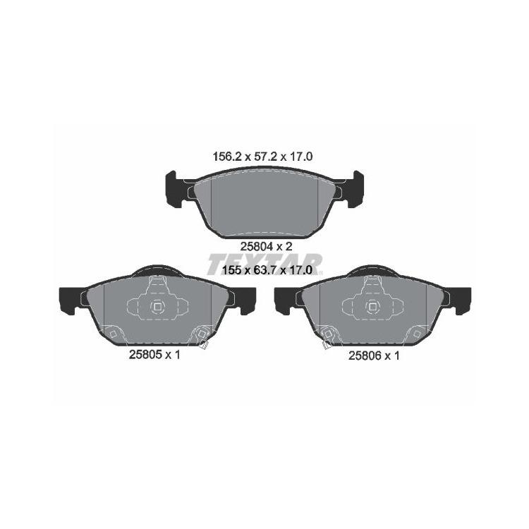 Textar Bremsbeläge vorne Honda Civic IX + Tourer 1,4 - 2,2 VTEC DTEC