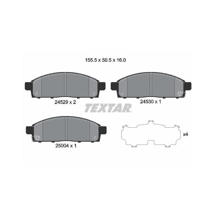 Textar Bremsbeläge vorne Mitsubishi L200 2,4 - 2,5 DI-D + 4WD Tokico Bremse