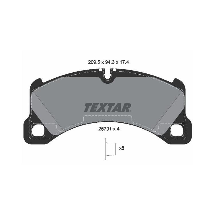 Textar Bremsbeläge vorne 2570101 im Autoteile Preiswert Shop kaufen und sparen!