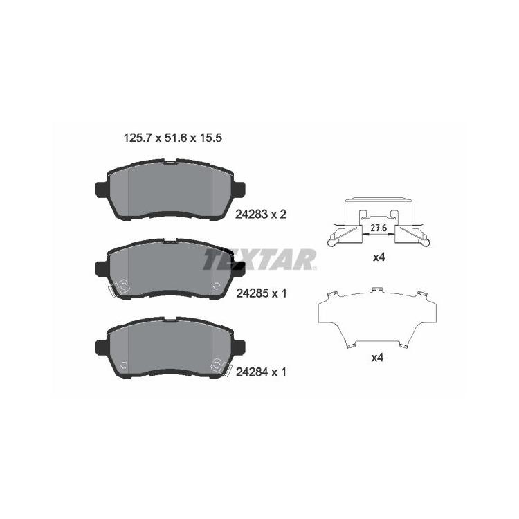 Textar Bremsbeläge vorne Daihatsu Sirion Mazda 2 Subaru Justy Suzuki Swift