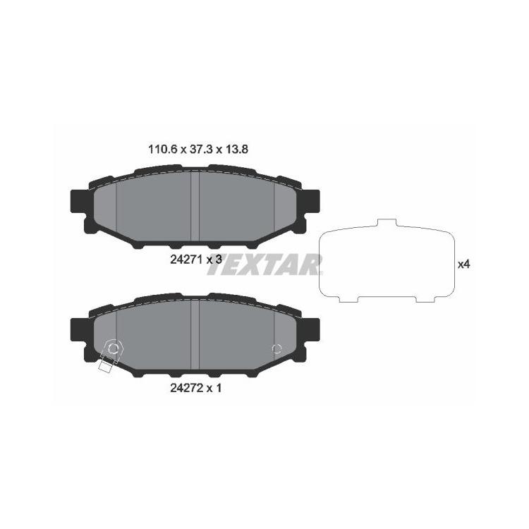 Textar Bremsscheiben + Bremsbeläge hinten Subaru Forester Impreza Legacy Outback GT