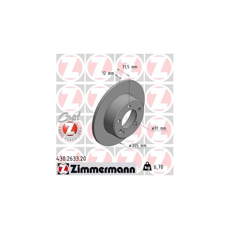 Zimmermann Bremsscheiben + Bremsbeläge hinten Opel Movano Renault Master