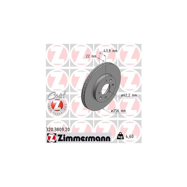 Zimmermann Bremsscheiben + Bremsbeläge vorne Kia Rio ab 2011