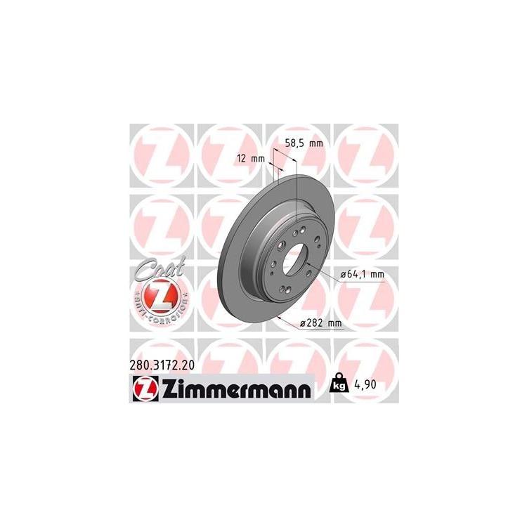 Zimmermann Bremsscheiben + Bremsbeläge hinten Honda Stream 1,7 2,0 + 16V