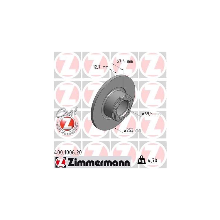 Zimmermann  Bremsscheiben + Bremsbeläge vorne Mercedes W110 190 200 230
