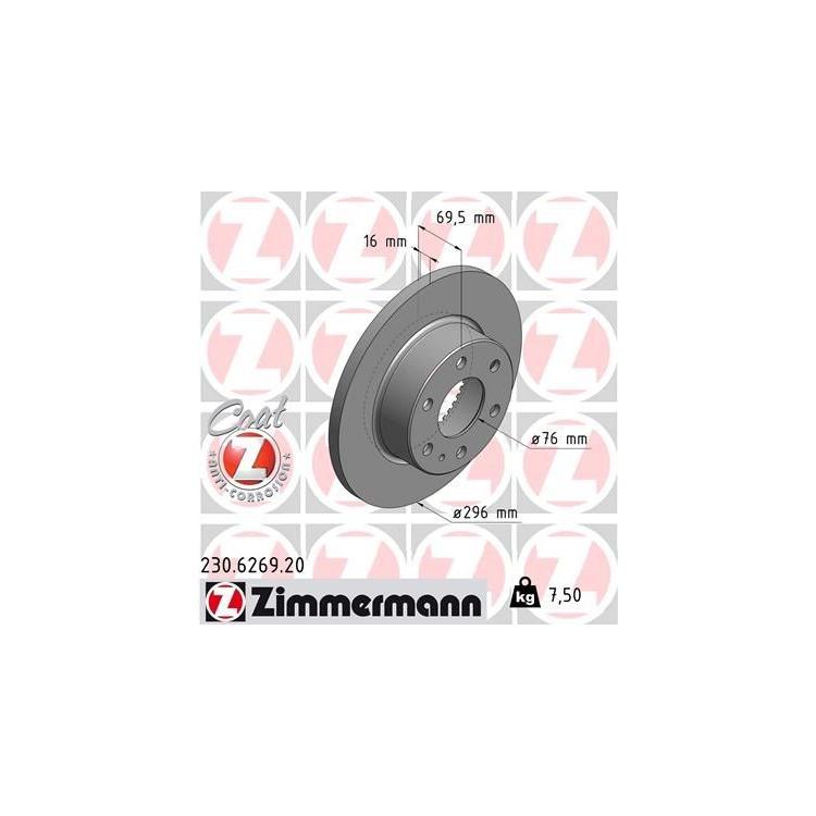 Zimmermann Bremsscheiben + Bremsbeläge hinten Iveco Daily ab 2007
