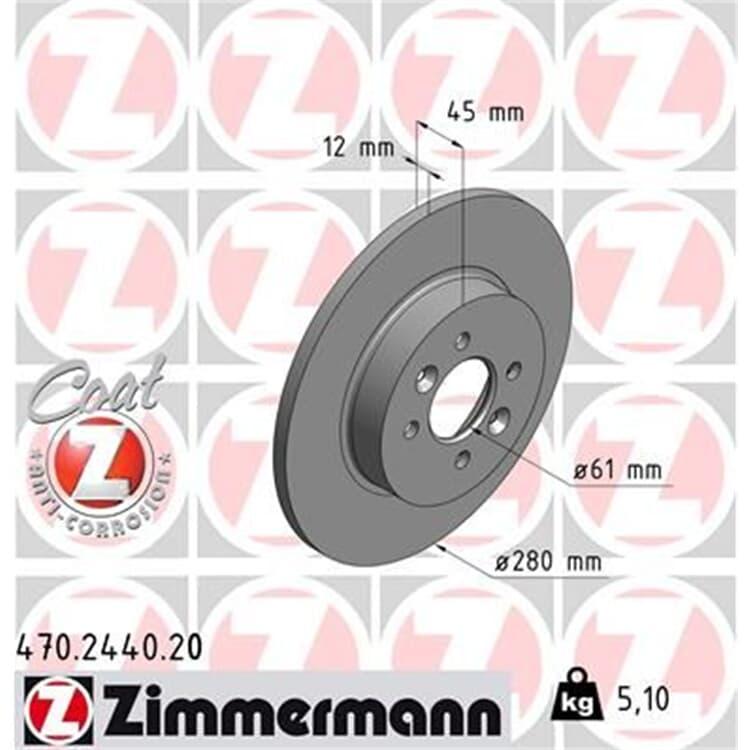 1 Zimmermann Bremsscheibe Renault Kangoo bei Autoteile Preiswert