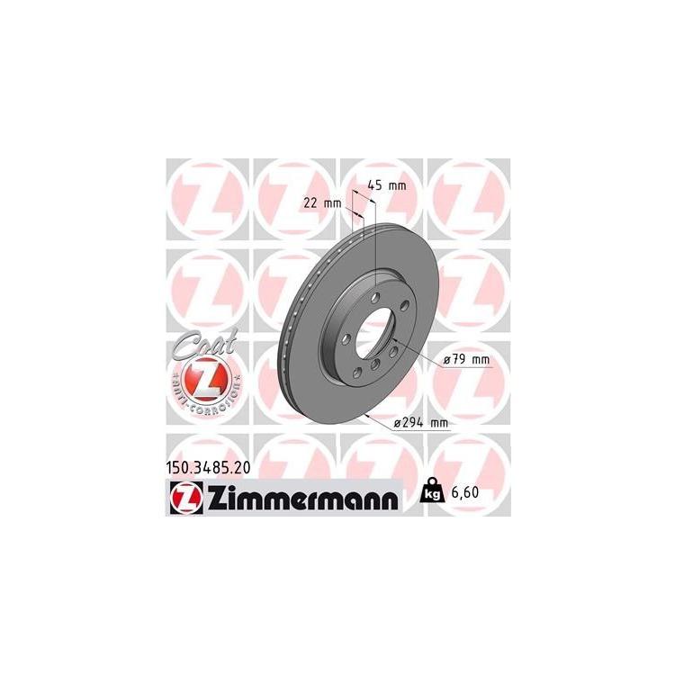Zimmermann Bremsscheiben + Bremsbeläge vorne Mini Couintryman Cooper D S Paceman