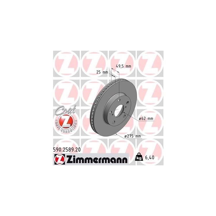 Zimmermann Bremsscheiben + Bremsbeläge vorne Toyota RAV 4 II 2000-2005