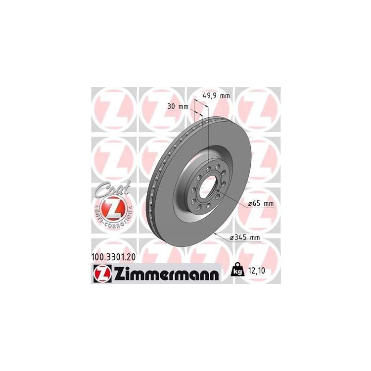 Zimmermann Bremsscheiben + Bremsbeläge VA+HA Audi A3 + Sportback VW Golf VI VII +Cabrio 1ZK 1KW