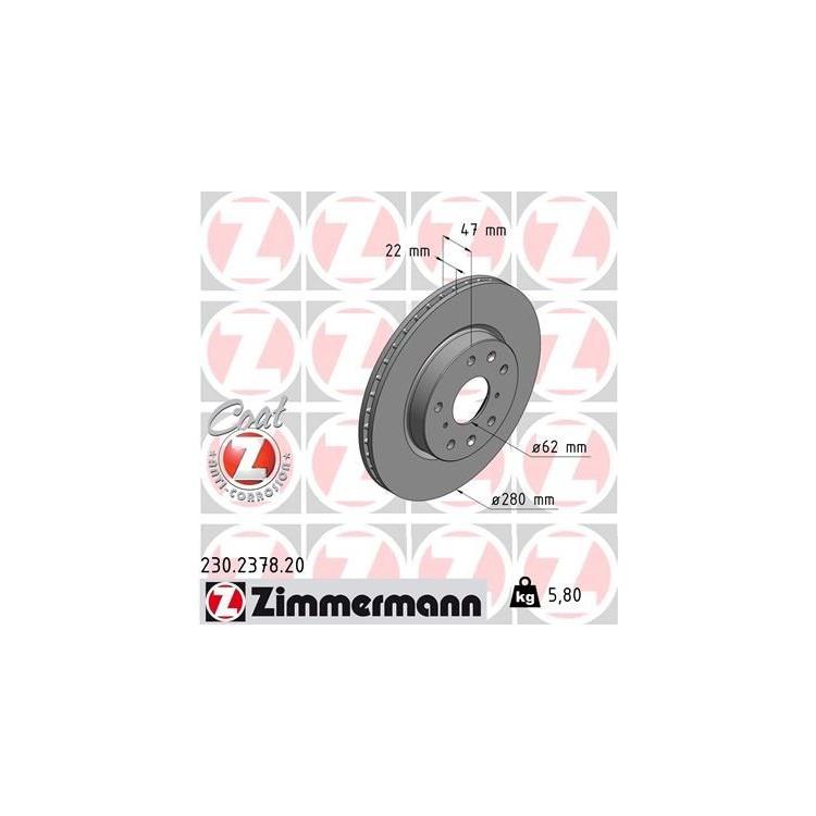Zimmermann  Bremsscheiben + Bremsbeläge vorne Fiat Sedici Suzuki SX4