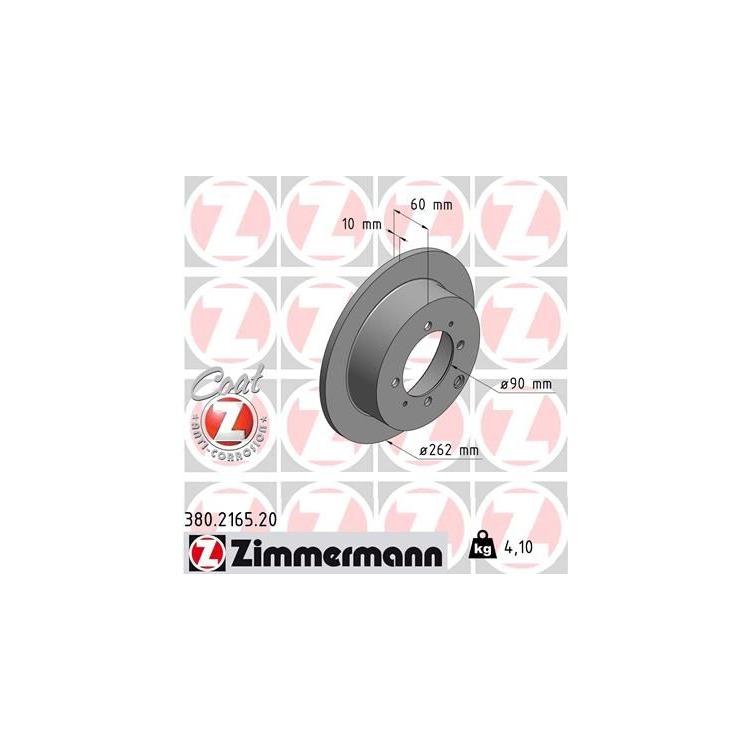 Zimmermann Bremsscheiben + Bremsbeläge hinten Mitsubishi Galant 1,8 2,0 2,4 2,5