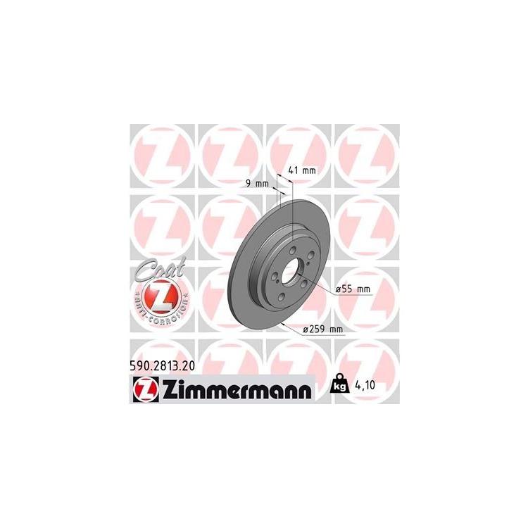 Zimmermann Bremsscheiben + Bremsbeläge hinten Toyota Urban Cruiser