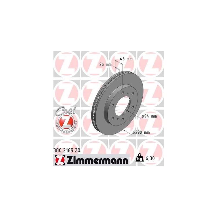 Zimmermann Bremsscheiben + Bremsbeläge vorne Mitsubishi Pajero IV