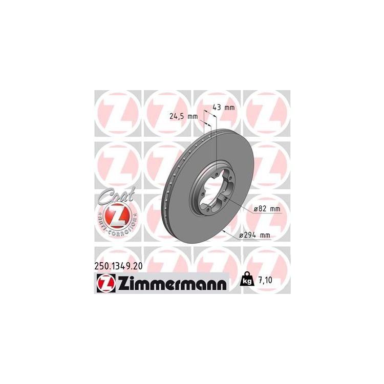 Zimmermann Bremsscheiben + Bremsbeläge vorne Ford Transit 2000-2006 mit Heckantrieb