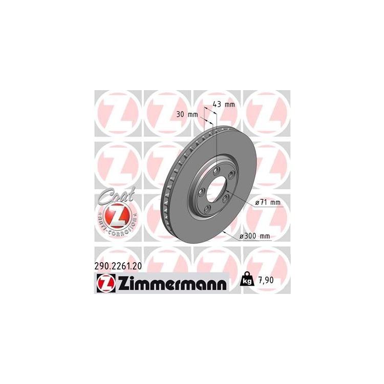 Zimmermann Bremsscheiben 300mm + Bremsbeläge vorne Jaguar S-Type