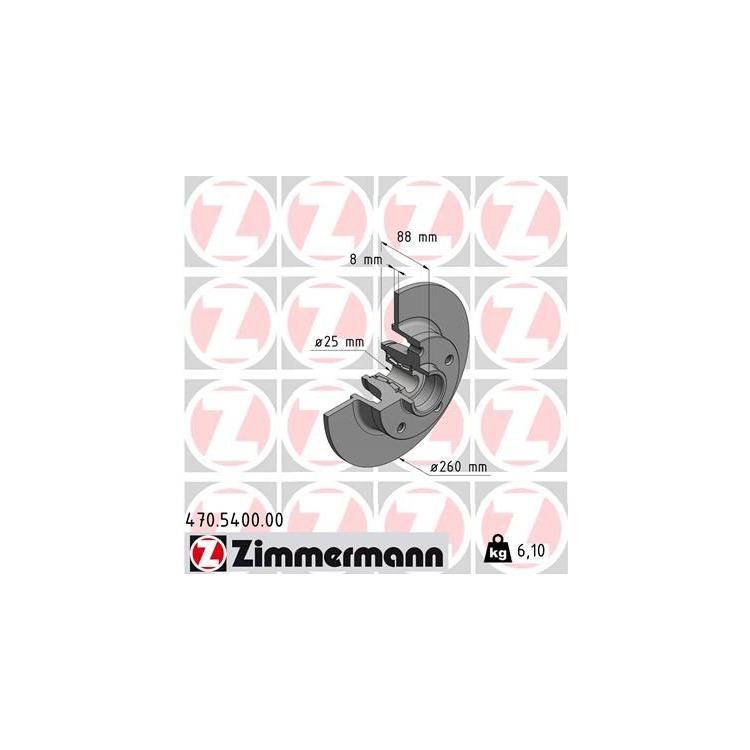 Zimmermann Bremsscheiben + Bremsbeläge hinten 470.5400.00 20961 online günstig Autoteile kaufen