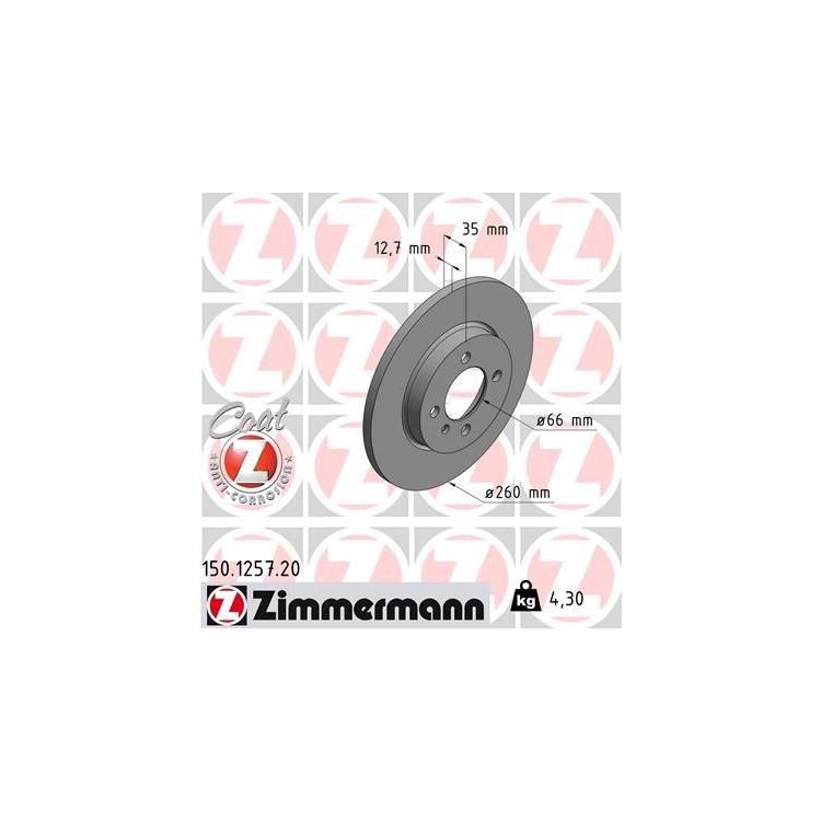 Zimmermann Bremsscheiben + Bremsbeläge vorne BMW E30 316 318