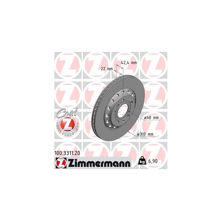 Zimmermann Bremsscheiben + Bremsbeläge hinten 100.3311.20 23883 online günstig Autoteile kaufen