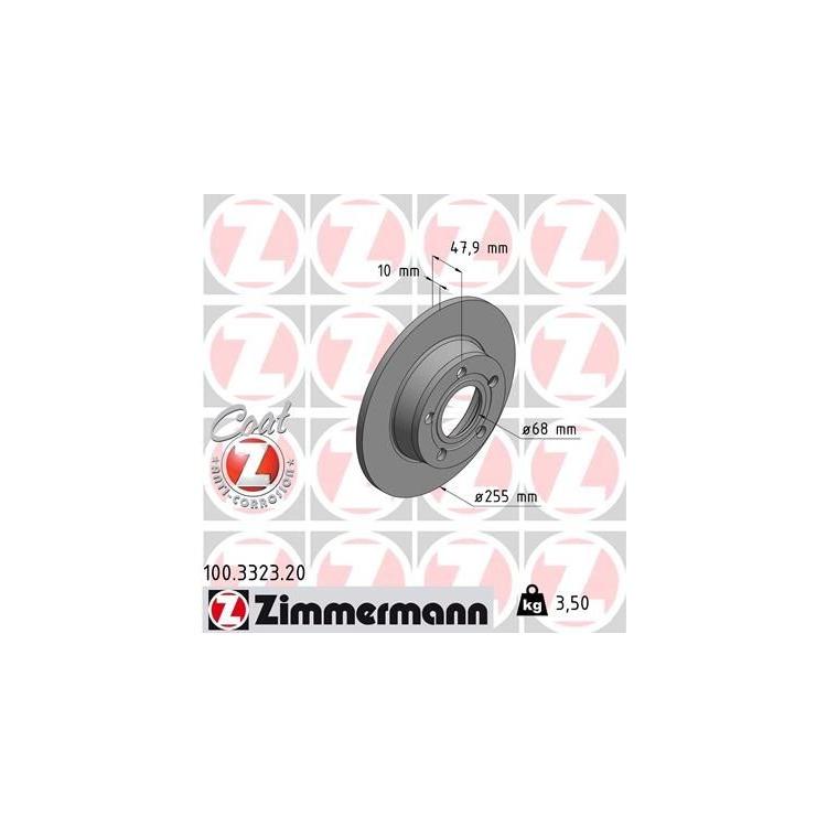 Zimmermann Bremsscheiben + Bremsbeläge hinten Audi A6 + Avant Allroad