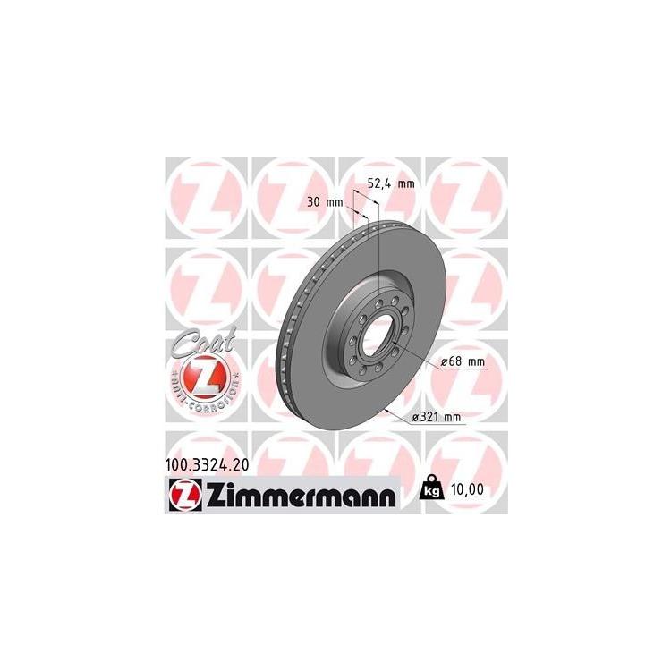 Zimmermann Bremsscheiben + Bremsbeläge vorne 100.3324.20 21454 online günstig Autoteile kaufen