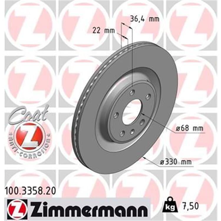 Zimmermann Bremsscheiben + Bremsbeläge hinten 100.3358.20 24606 online günstig Autoteile kaufen