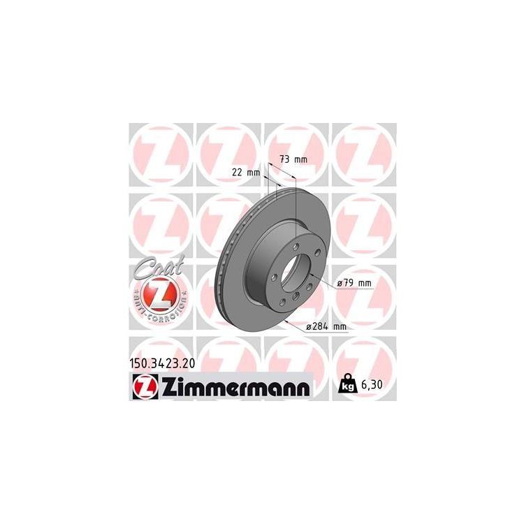 Zimmermann Bremsscheiben 284mm Bremsbeläge vorne BMW 116 118 i d