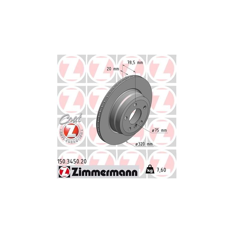 Zimmermann Bremsscheiben + Bremsbeläge hinten BMW X5 E70 3,0