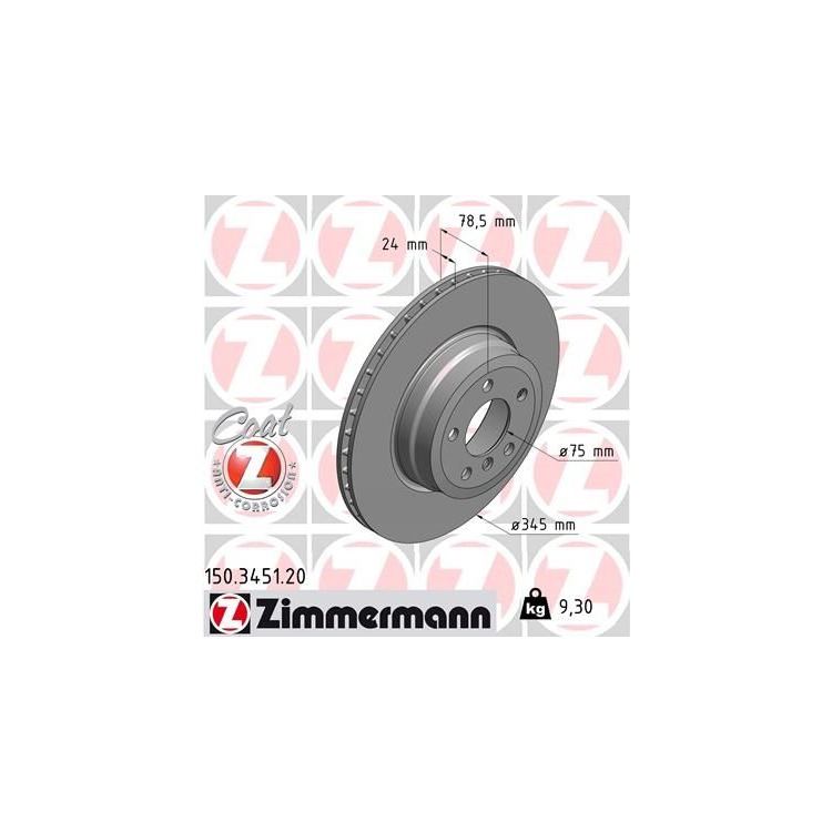 Zimmermann Bremsscheiben + Bremsbeläge hinten BMW E70 E81 X5 X6