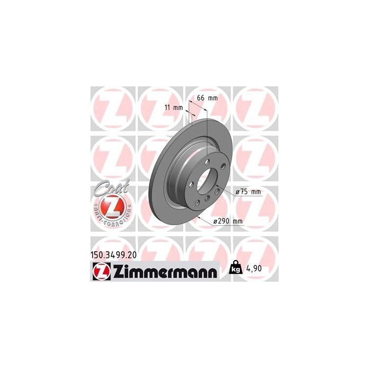 Zimmermann Bremsscheiben + Bremsbeläge VA+HA BMW 1 F21 2 Cabriolet F23 Coupe F22 F87 114-118 +d