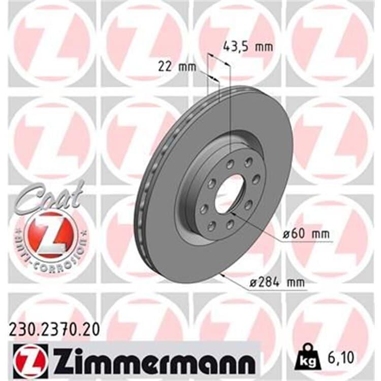 Zimmermann Bremsscheiben + Bremsbeläge vorne Opel Adam Corsa E + Van 1,0-1,6