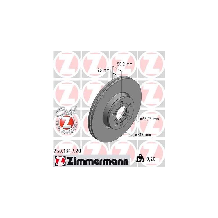 Zimmermann  Bremsscheiben + Bremsbeläge vorne Ford Galaxy Seat Alhambra VW Sharan T4