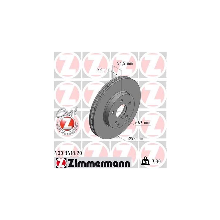 Zimmermann Bremsscheiben 295mm + Bremsbeläge vorne 400.3618.20 23271 online günstig Autoteile kaufen