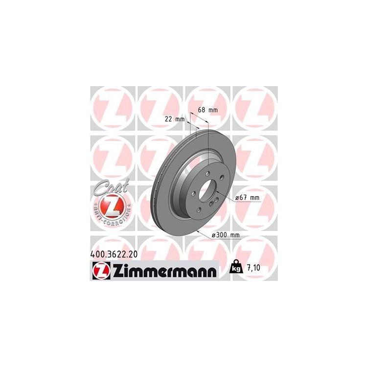 Zimmermann Bremsscheiben + Bremsbeläge VA+HA 400.3636.20 3622 JETZT SPAREN !