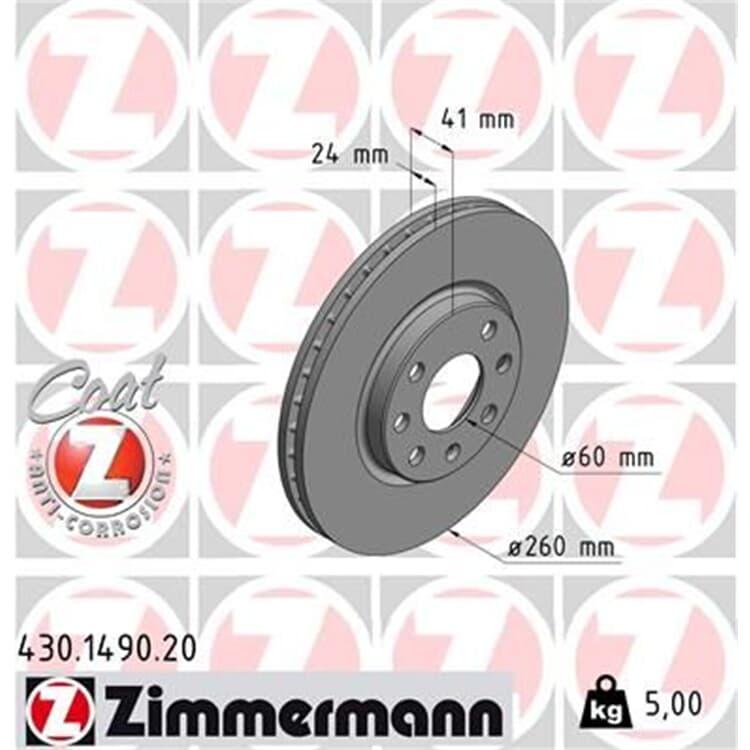 Zimmermann Bremsscheiben + Bremsbeläge vorne Opel Combo Corsa C Tigra