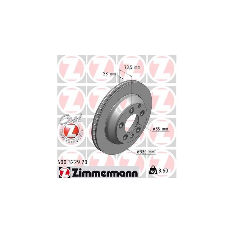 Zimmermann Bremsscheiben + Bremsbeläge VA+HA 600.3226. 3229 bis zu 60% günstiger kaufen!