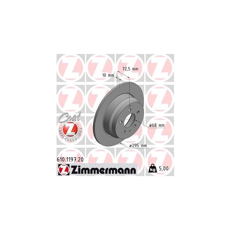 Zimmermann Bremsscheiben + Bremsbeläge VA+HA Violvo 850 + Kombi C70 I Cabrio Coupe S70 V70 I