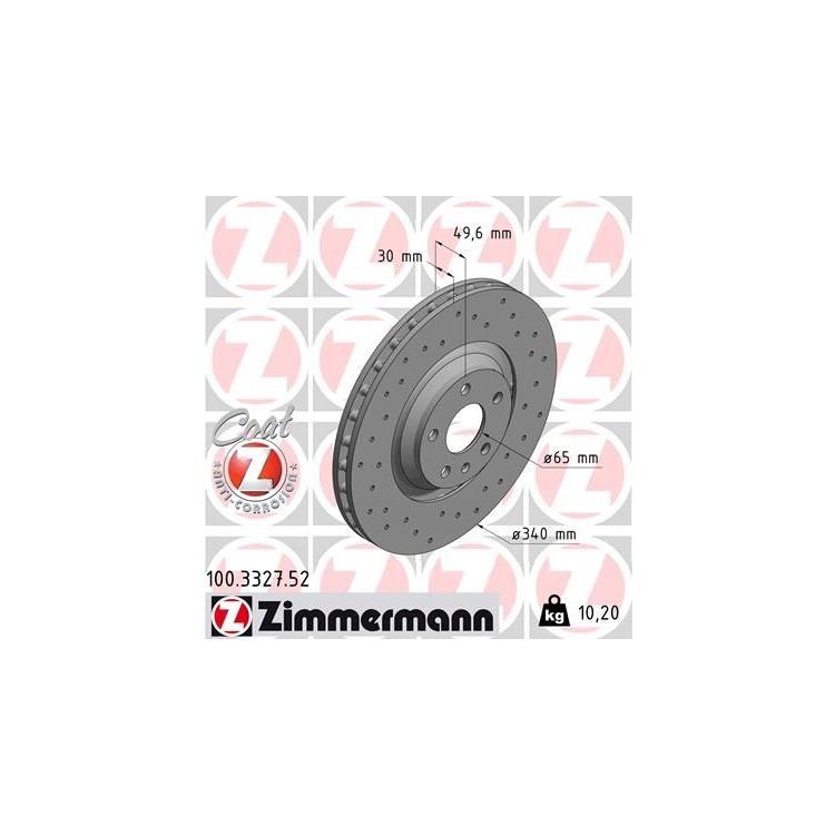 2 Zimmermann Sportbremsscheiben vorne 100.3327.52 online günstig Autoteile kaufen