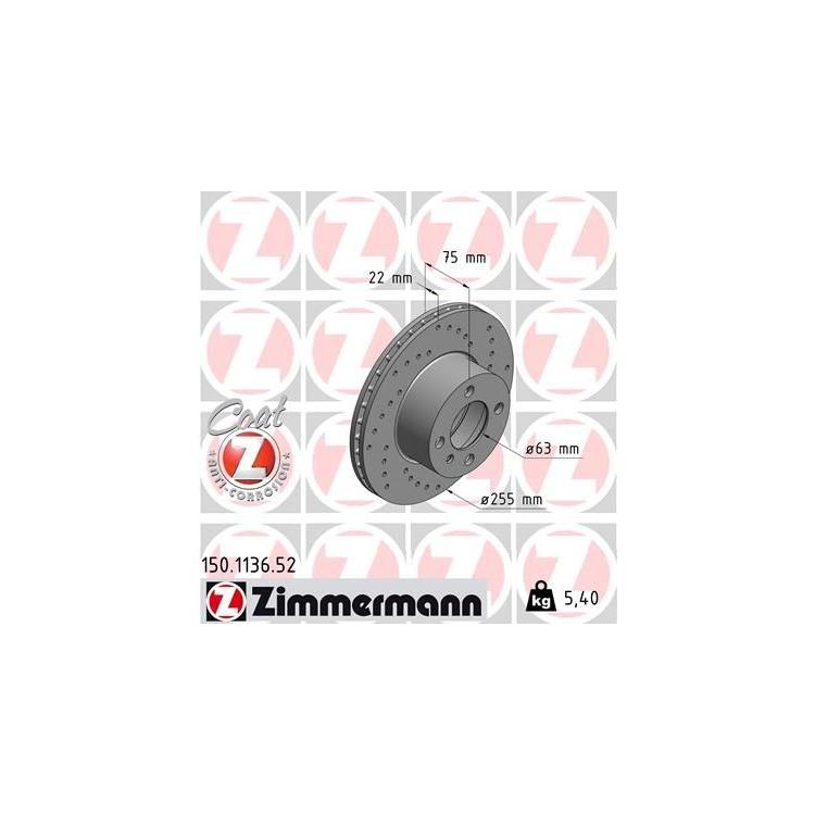 1 Zimmermann Sportbremsscheibe 150.1136.52 BMW 3er