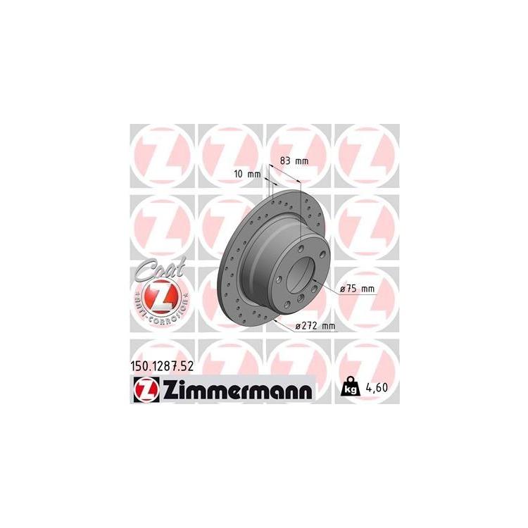 1 Zimmermann Sportbremsscheibe 150.1287.52 150.1287.52 im Autoteile Preiswert Shop kaufen und sparen!