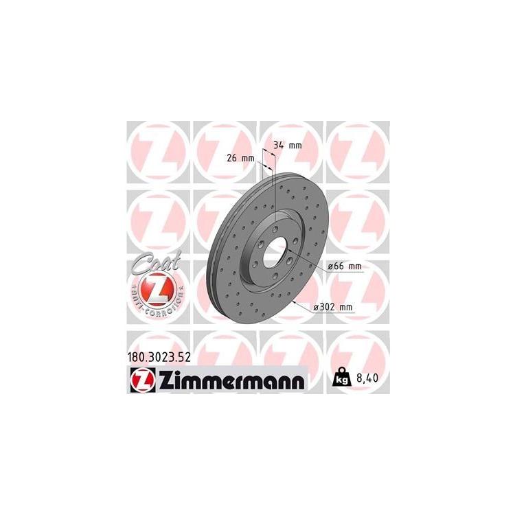 1 Zimmermann Sportbremsscheibe  bei Autoteile Preiswert