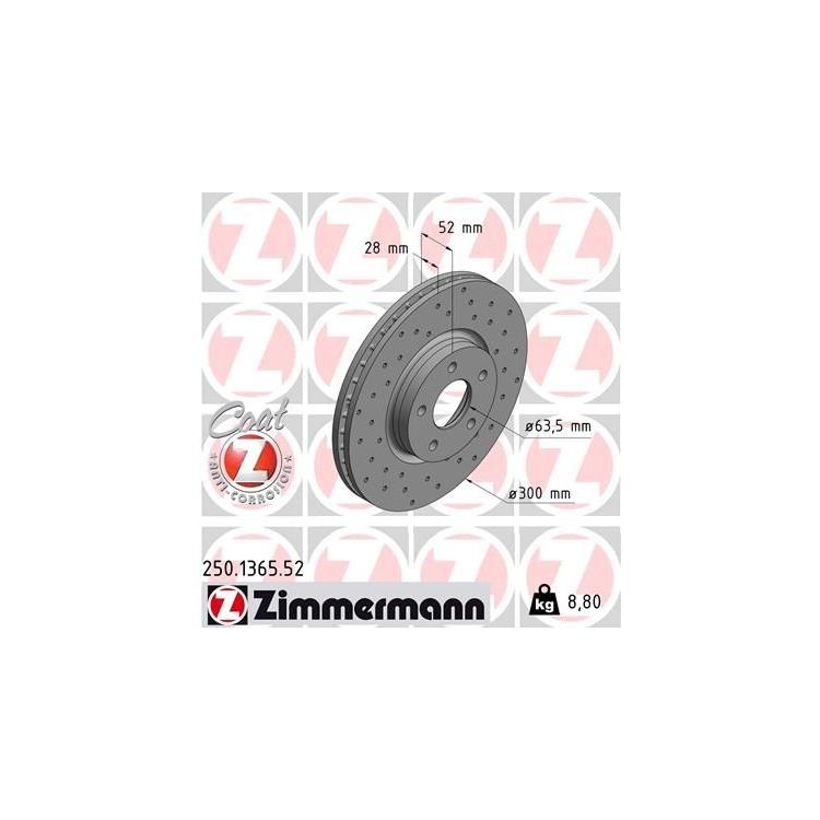 Zimmermann Sportbremsscheiben + Bremsbeläge vorne Ford Mondeo IV