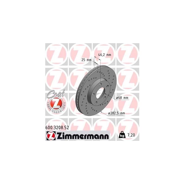 1 Zimmermann Sportbremsscheibe 600.3208.52 600.3208.52 im Autoteile Preiswert Shop kaufen und sparen!