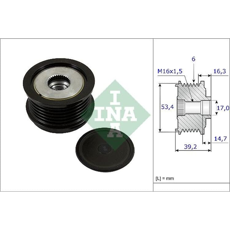 INA Riemenscheibe für Lichtmaschine 535023610 im Autoteile Preiswert Shop kaufen und sparen!