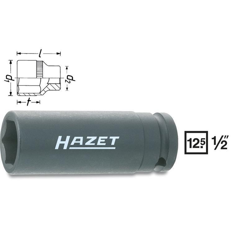 Hazet 1/2 Zoll Kraft Stecknuss 24mm lange Ausführung