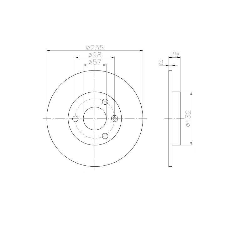 2 Textar Bremsscheiben 3-Loch vorne Citroen AX Peugeot 106 I II für 3-Loch