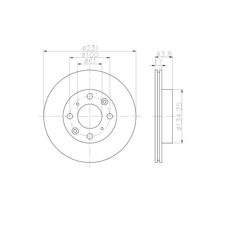 Textar Bremsscheiben + Bremsbeläge vorne Honda Civic 4 5 CRX 1 1,3 1,4 1,5