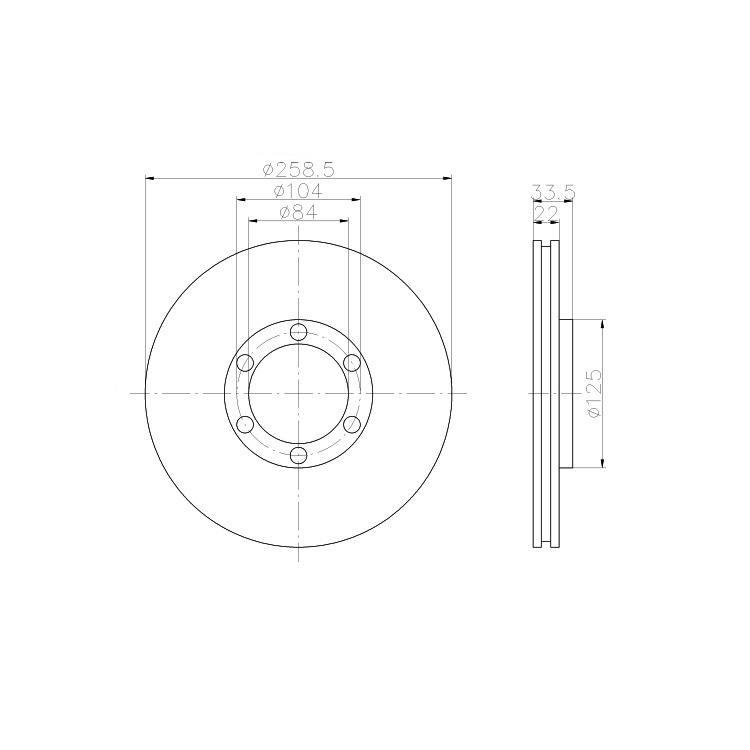 Textar Bremsscheiben + Bremsbeläge vorne Mitsubishi L200 2,5 2,6 D TD