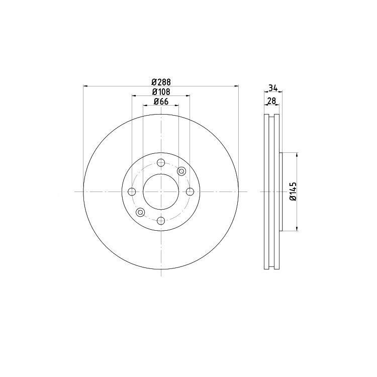 2 Textar Bremsscheiben 288mm vorne Citroen C5 Xantia