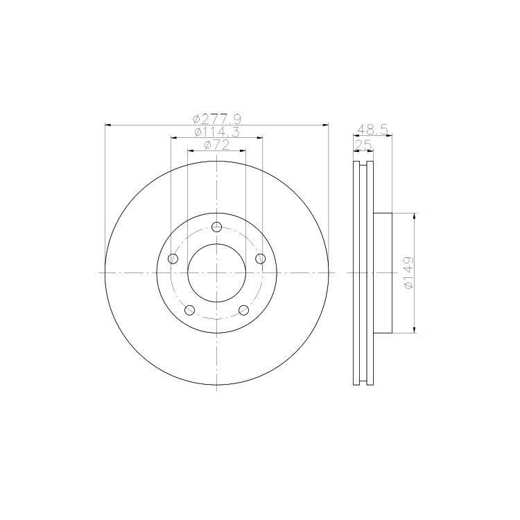 2 textar bremsscheiben 277 9mm vorne f r mazda 3 5. Black Bedroom Furniture Sets. Home Design Ideas